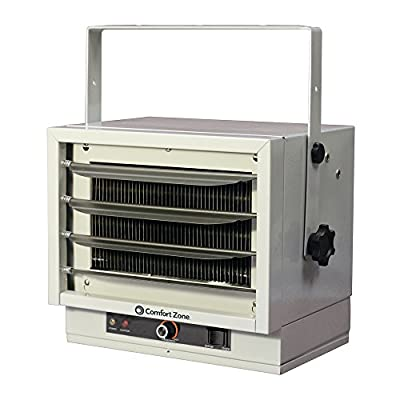 Comfort Zone 240V 25600 BTU Ceiling Mount Garage Heater