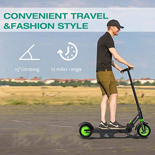 """EVERCROSS Electric Scooter - 8"""" Tires, Folding Electric Scooter for Adults with 350W Motor Up to 15 MPH & 12 Miles, Adult Electric Scooter with 3 Speed Modes & Dual Braking for Adult Teens"""