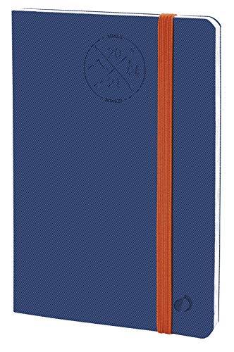Quo Vadis 149003Q Agenda Scolastica PLANNING 21 16M Multilingua Anno 2021-2022 Colore Blu Denim Formato 15X21cm Settimanale 16Mesi SettembreDicembre Carta Bianca Copertina Morbida con elastico Everest