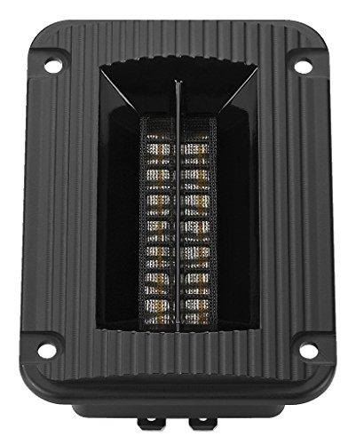 MONACOR RBT-95SR Bändchen-Hochtöner, Magnetostat mit Hornvorsatz und Neodym-Magnetsystem zum Selbst-Einbau, Hochtonlautsprecher für eine Brillante, feinzeichnende Hochtonwiedergabe, in Schwarz