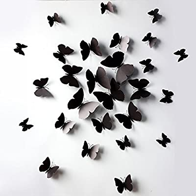 FLY SPRAY 3D Colorful Butterfly Removable Mural Wall Stickers Wall Decal For Home Decor(FBA)