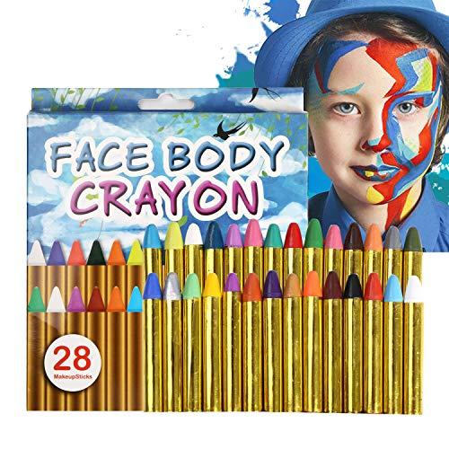 URAQT Pinturas Cara para Niños, Navidad Pintura Facial, Pintura de Cara Pintura...
