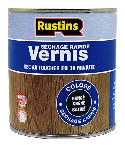 Rustins VSDO1000 1 Litre Quick Dry Varnish Satin - Dark Oak