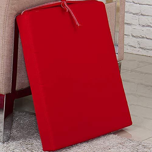 TY&WJ Interior Al Aire Libre Cojín Settee con Corbatas,no-resbalón Patio Cojín para Banco,Espesar Esponja Impermeable Asiento Cojín De Silla para Banco De Piano Balcón Rojo 90x50x5cm(35x20x2inch)
