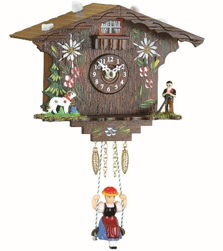 Trenkle Kuckulino Reloj en Miniatura de la Selva Negra casa Suiza Cuarzo con Llamada del cucú