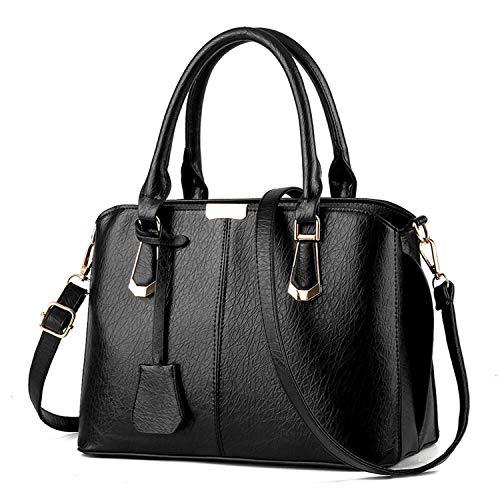 Small-shop handbags Arrival PU Leder Handtaschen Casual Frauen Schultertasche Designer Damen Handtaschen Einfache Stil Schwarz Tasche