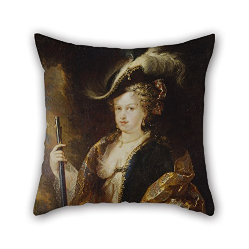 N / A Pintura al óleo Mel & Atilde; & Copy; Ndez, Miguel Jacinto - Maria Luisa Gabriela of Savoy, Huntress Throw Christmas Pillow Covers Best For Kitchen Indoor Home Theater Festival Bar Club (d