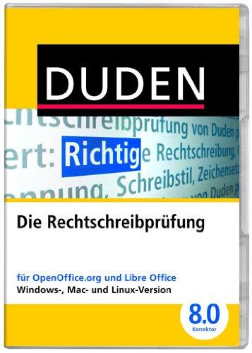 DUDEN Die Rechtschreibprüfung für OpenOffice und LibreOffice, Korrektor 8.0