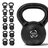 Body Revolution Kettlebells - Cast Iron Kettlebell for Strength and Cardio Training - Kettle Bells Available - Sold Separately (6 KG)