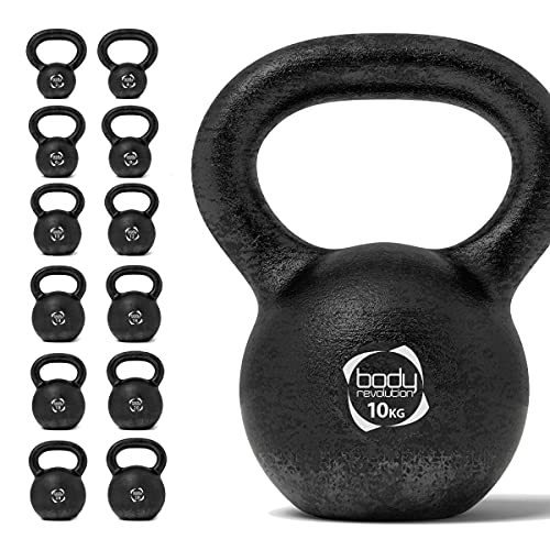 Body Revolution 12 KG Cast Iron Kettlebell - Heavy Weight Kettle Bell for Strength and Cardio Training