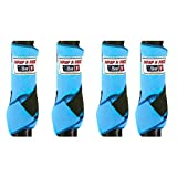 Wrap N Ride Sports Medicine Boots Horse Set of 4 Splint Boots by Bar_F (Peacock)