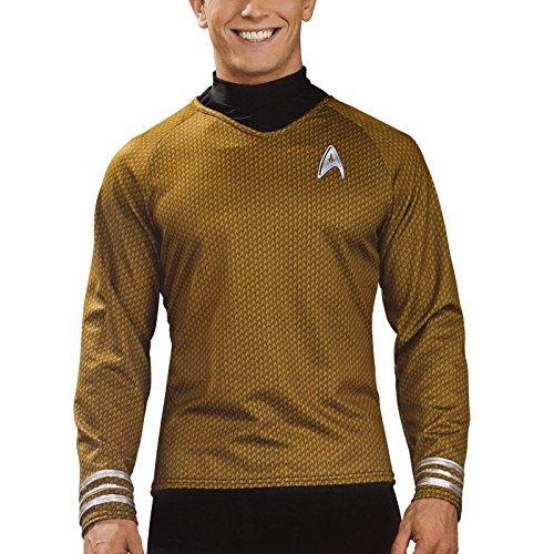 Lizenziertes Star Trek-Kostüm - Shirt - Scotty/Kirk/Spock - Gold - Größe M