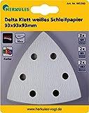 Ercole M5360 bianco carta abrasiva Delta con chiusura in velcro, per multi levigatrice - Dimensioni: Dimensioni 93 x 93=- materiali/caratteristiche: colore