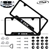 x5 license plate frame - 2-Pieces High-Grade License Plate Frame for BMW,Applicable to US Standard car License Frame