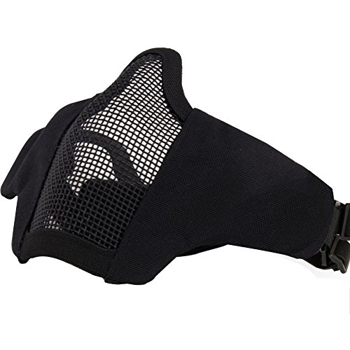AOUTACC Airsoft Mask Tactical Goggles Set, Foldable Half Face Mesh...