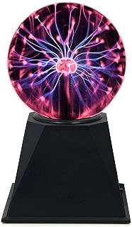 Hooyi 6 Inch Magic Plasma Ball Touch Sound Sensitive Plasma Desk Lamp Light Nebula Sphere Lightning Globe Home Decor Magical Ball electrostatic Flashing Balls Stem Science Nightlight Room Decorations