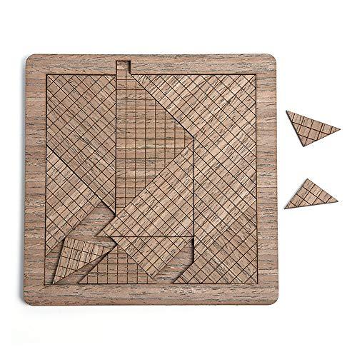 Puzzle Triángulos Y Cuadrículas con Forma De Rompecabezas Súper Difícil De Auto-tortura Sistema De Combustión Cerebral Rompecabezas De Madera para Adultos Grupo Juegos De Edificio Regalos De Cumpleañ
