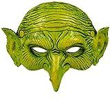 KQBAM Máscara De Bruja Fiesta De Carnaval De Halloween Máscara De Fiesta Duende Verde Disfraz De Cosplay Elfo Verde Máscara De Bruja Aterradora Accesorios De Fiesta, Verde, Verde