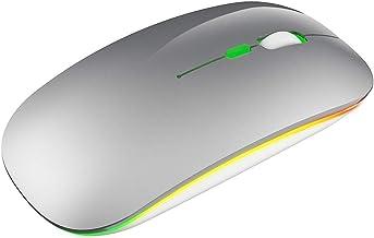 Rato, Walory M40 Mouse Sem Fio Ultra-fino 2.4G Recarregável Sem Fio Mouse Silencioso Design Ergonômico 3 DPI Ajustável Prata