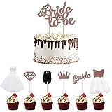 CCUCKY Bride to be Cupcake Toppers, 7 Diferentes Adornos para Cupcakes con...