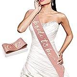 Konsait Oro Rosa Sposa Fascia, Bride to be Satin Sash, Fasce Addio al Nubilato Gadget, Decorazione per Addio al Nubilato - Regalo per Future Spose