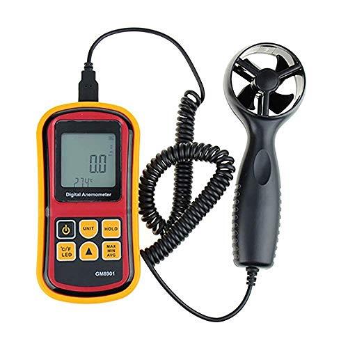 FYYONG. Anemometro misura della temperatura Termometro digitale portatile di misurazione strumento Controllo misura velocità dell'aria Flusso d'aria Temperatura