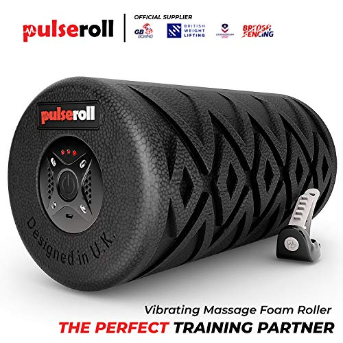 Pulseroll Vibrating Foam Roller for Deep Tissue Muscle Massage - Myofascial Fast Pain Release And Tight Muscles