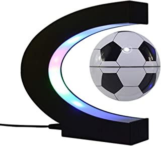 ZHIHUI Magnetic Levitation Floating Globe 3 inch with LED Lights C Shape World Map for Desk Decoration,Football