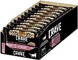 CRAVE Katzenfutter - getreidefreies, proteinreiches Nassfutter Pastete mit Huhn & Truthahn und Lachs & Huhn 44 Portionsbeutel (11 x 4 x 85g), 3740 g