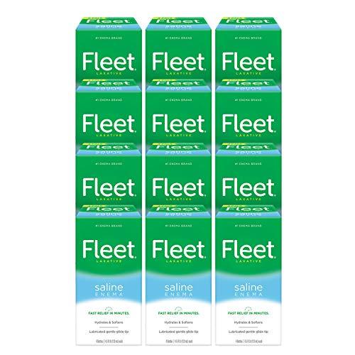 Fleet Laxative Saline Enema for Constipation, 4.5 fl oz,12 Pack