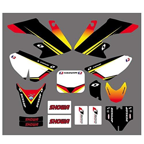 Moto Equipo gráfico; Fondos Kits Etiquetas calcomanía for Honda CRF50 CRF50F Estilo Pit Bici de la Suciedad (Amarillo/Blanco) Motocross Pegatinas