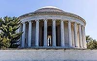 アメリカのワシントン市の建築風景DIY5Dダイヤモンド絵画番号によるユニークなキット家の壁の装飾クリスタルラインストーンの壁の装飾クロスステッチ12x16インチ(フレームレス)