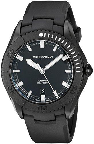 Emporio Armani Swiss Made ARS9005 Reloj negro con visualización analógica y automático suizo