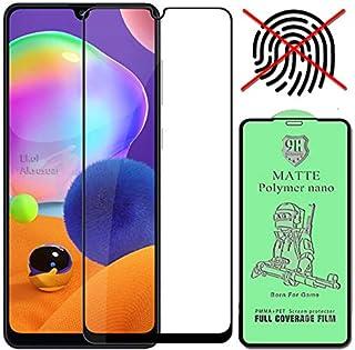Samsung Galaxy A31 Mat Plymer Nano 9D Ekran Tam Kaplayan Kavisli Kırılmaz Cam İnce Ekran Koruyucu (Anti Parmak İzi)