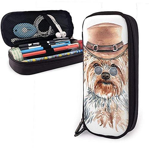 Yorkshire Terrier Perro Acuarela con disfraz Estuche para lpices Estuche para lpices Estuche para maquillaje Organizador Estuche para bolgrafo Estuche para bolgrafo