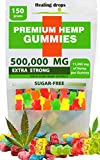 Premium Organic Hemp Sugar-Free Gummies Natural Health Support 500,000MG High Potency Relaxing Stress