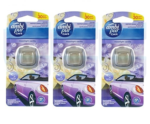 Ambi Pur Car Moonlight Vanilla/Vanille 3er Packung (3X 2ml)