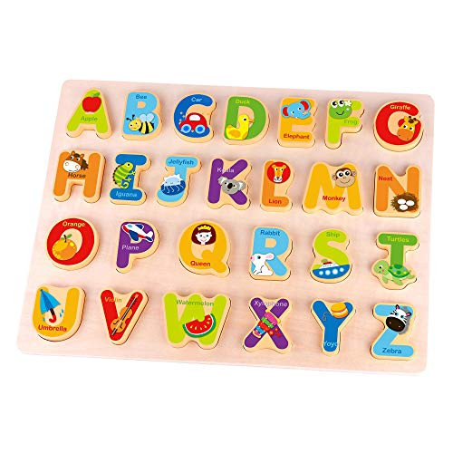 Fat Brain Toys Alphabet Adventure Wooden Puzzle Early...