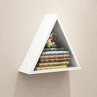 Kitzen Triangle Wall Shelves Bedroom Wall Shelves Plaid Storage Rack Simple Study W