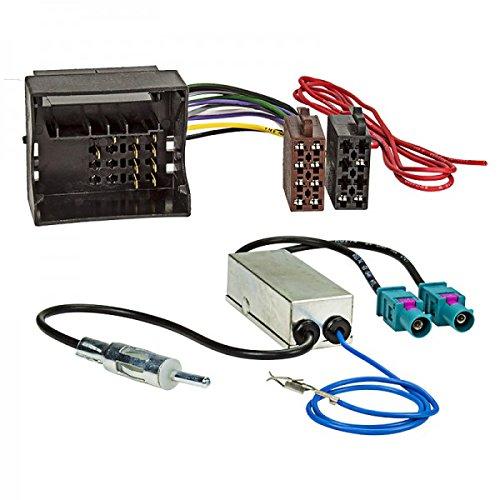 ACV 1524-77+1324-02 Cable de conexión de Radio y Adaptador de Antena Multicolor