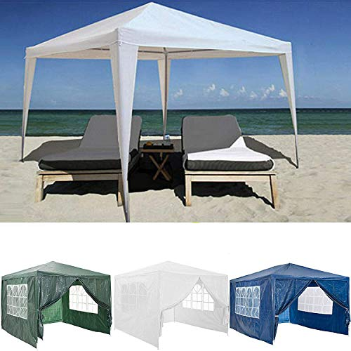 All Seasons Garden Heavy Duty Gazebo Marquee Party Tent Canopy for Wedding Outdoor Camping Beach 3x3M 3x4M 3x6M with 4 Side Panels, Waterproof