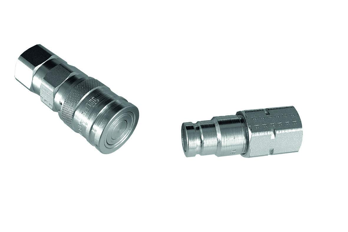 3//4 BSP Port Male Female Set Hydraulic Flat Face Quick Release Coupling Set