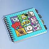BT21 Cuaderno con divisores – 200 páginas a rayas – Producto oficial de BTS