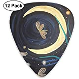 Dragonfly Moon Fantasy Guitar Picks 12 paquetes, que incluyen 4 piezas de 0.46 mm, 0.71 mm y 0.96 mm cada una.