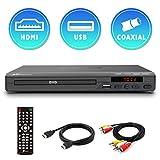 Mediasonic DVD Player – All Region, HDMI / AV Output, USB Multimedia Player Function, Up-Conversion 1080P, HDMI & AV Cable Included (HW210AX)