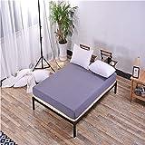 XGguo Protector de colchón - cubrecolchón Transpirable Sábana de algodón Puro Single-Silver Grey_100X200 + 25cm