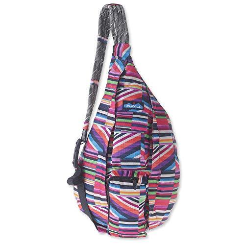 KAVU Original Rope Sling Bag Polyester Crossbody Backpack - Jewel Stripe