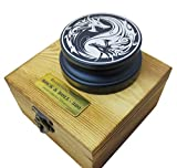 Riverstone Audio - Rock & Roll Series 380 Record Weight Turntable Stabilizer (380 g) - Anodized Aluminum - Laser Engraved Yin Yang Dragons - Color: (DEEP Ocean)