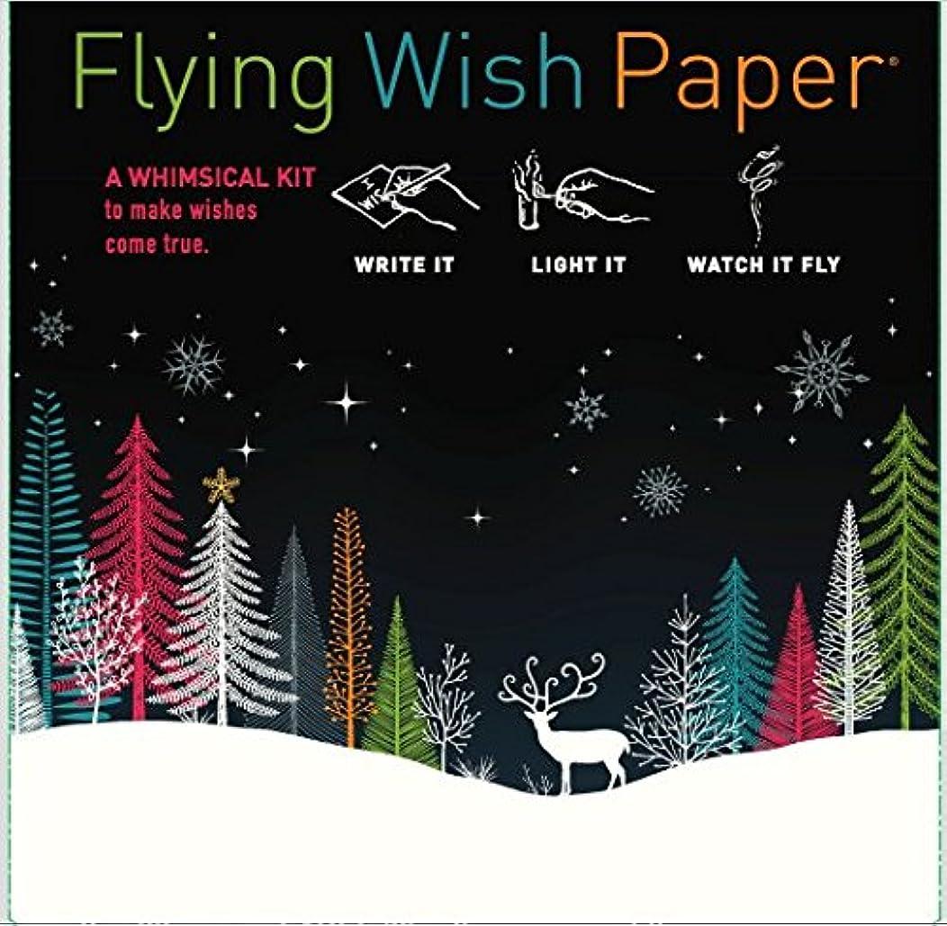 Flying Wish Paper - Write it., Light it, & Watch it Fly - WINTER WOODS - 5