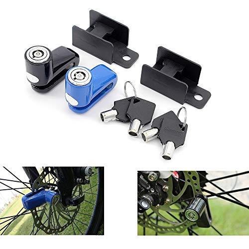 Hooshion 2 Set Mountain Bike Disc Brake Lock Bicycle Security Anti-Theft Lock Bicycle Lock Bicycle Lock Riding Equipment
